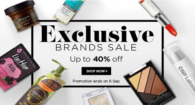 Exclusive brands sale! Up to 40% off!