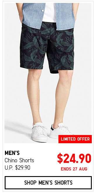 Shop Men's Chino Shorts $24.90