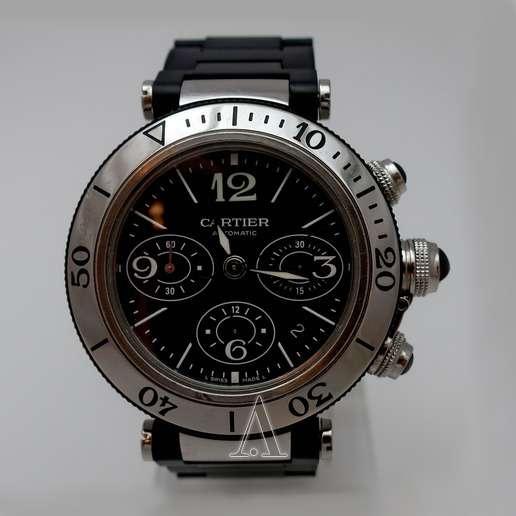 Men's  Cartier Pasha Seatimer Chronograph Watch
