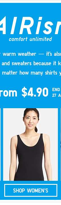 Shop Women's AIRism on Limited Offer