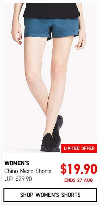 Shop Women's Chino Micro Shorts $19.90