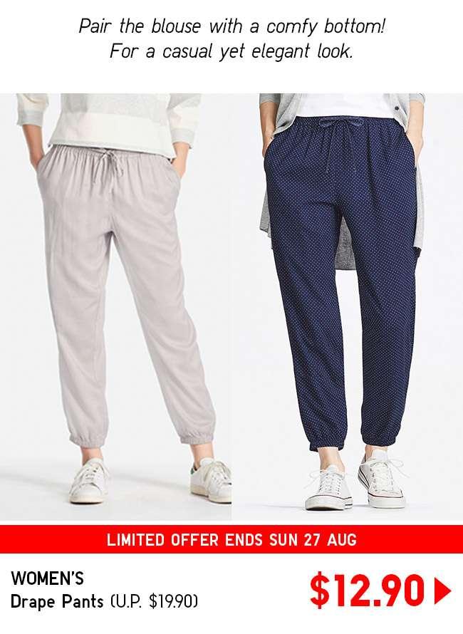 Shop Women's Drape Pants at $12.90