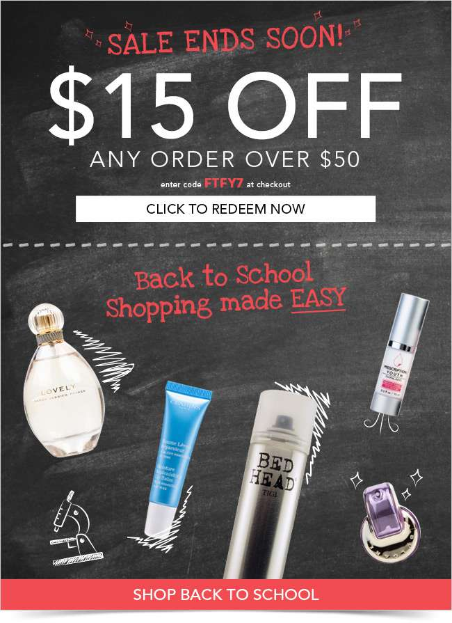 Your $15 OFF ends tonight!