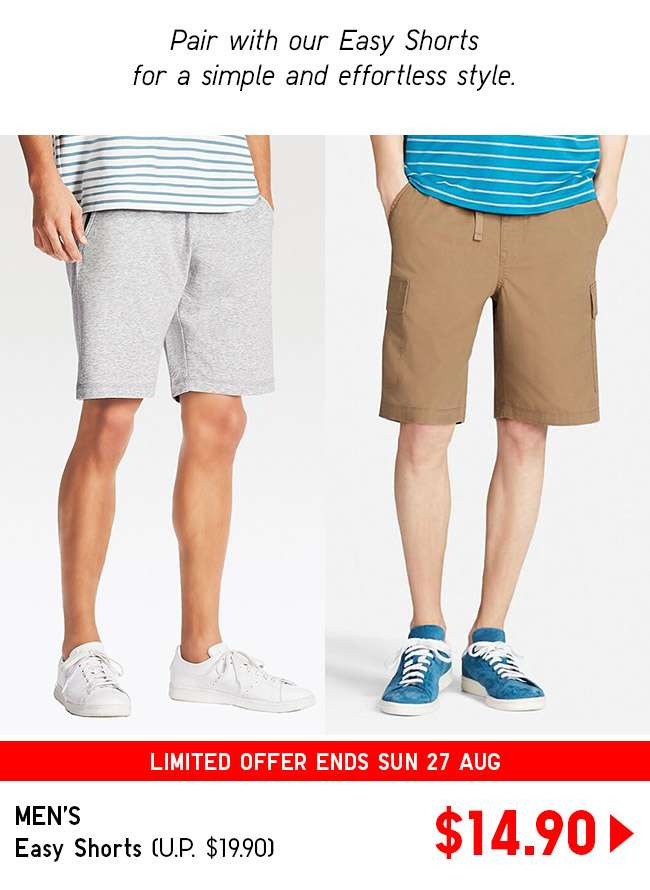 Shop Men's Easy Shorts at $14.90