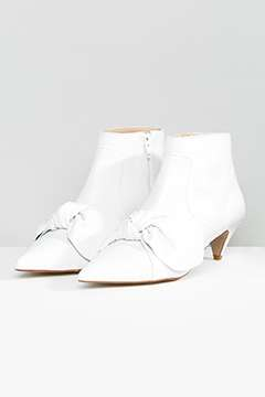 ASOS ROYAL Leather Bow Boots