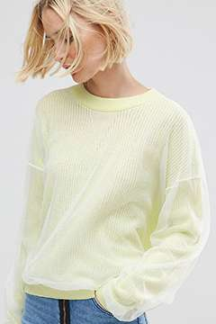 ASOS Jumper with Mesh Overlay