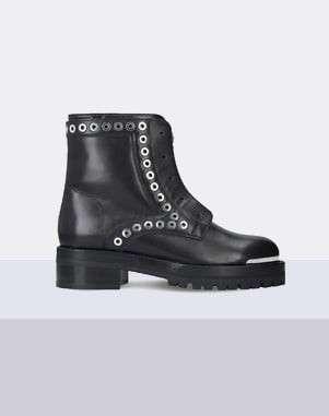 Alexander McQueen Rivet leather biker boots