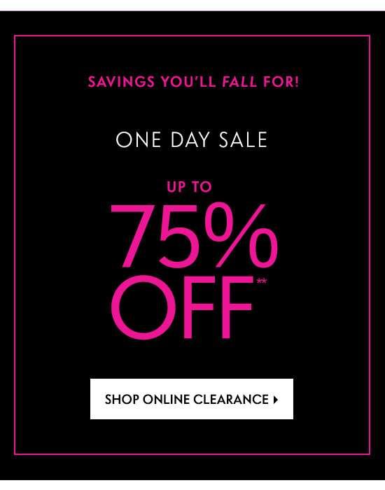 Shop Online Clearance