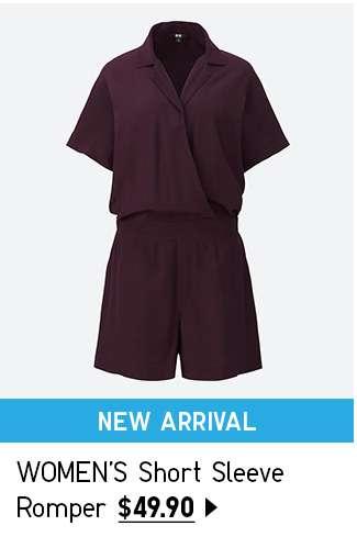 NEW! Shop Women's Short Sleeve Romper at $49.90