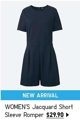 NEW! Shop Women's Jacquard Short Sleeve Romper at $29.90