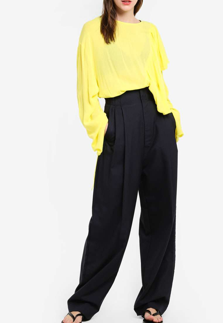 Cotton Wool-Blend Trousers