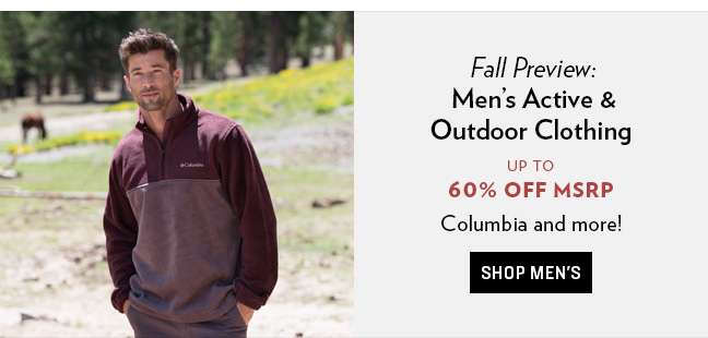 Shop Mens Active and Outdoor Clothing