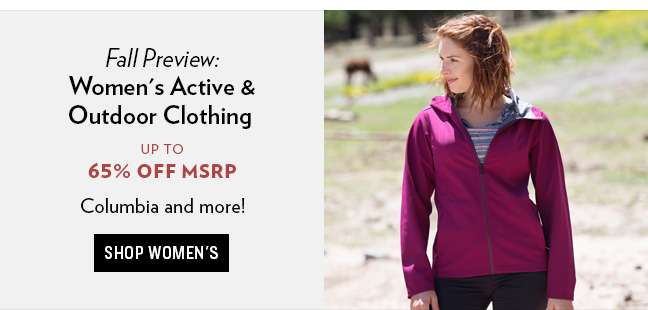 Shop Womens Active and Outdoor Clothing