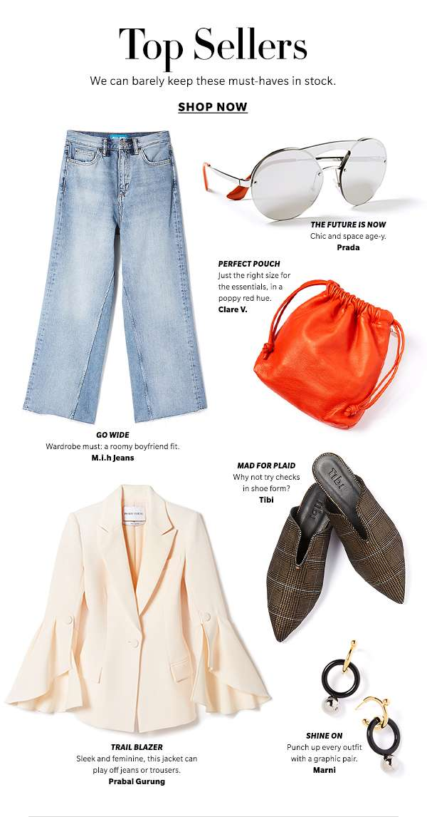 Top Sellers We can barely keep these must-haves in stock.