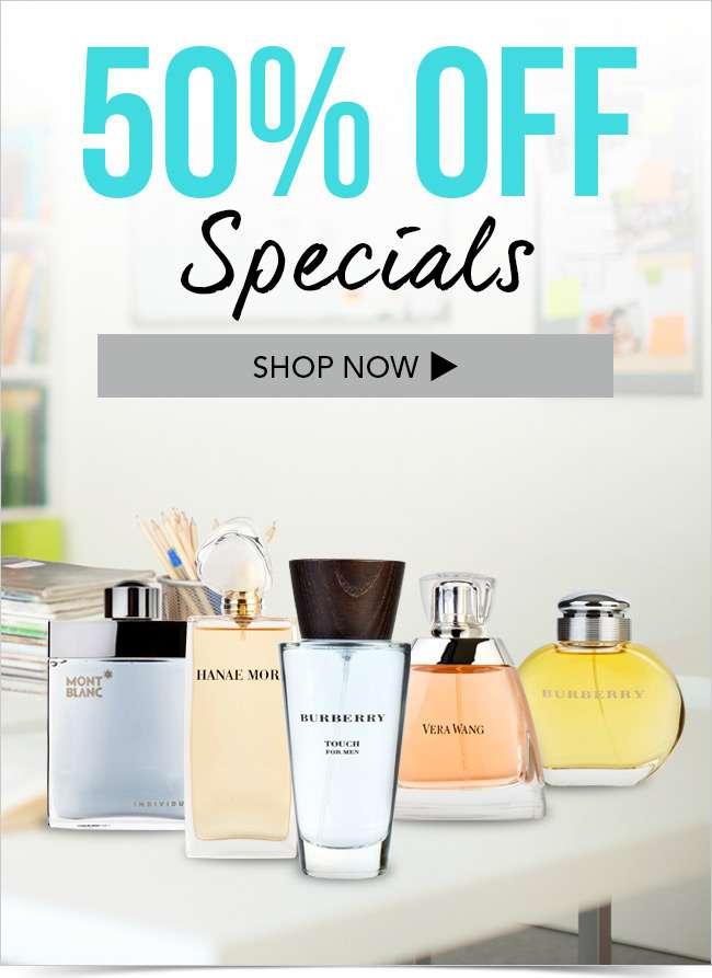 50% OFF Specials!