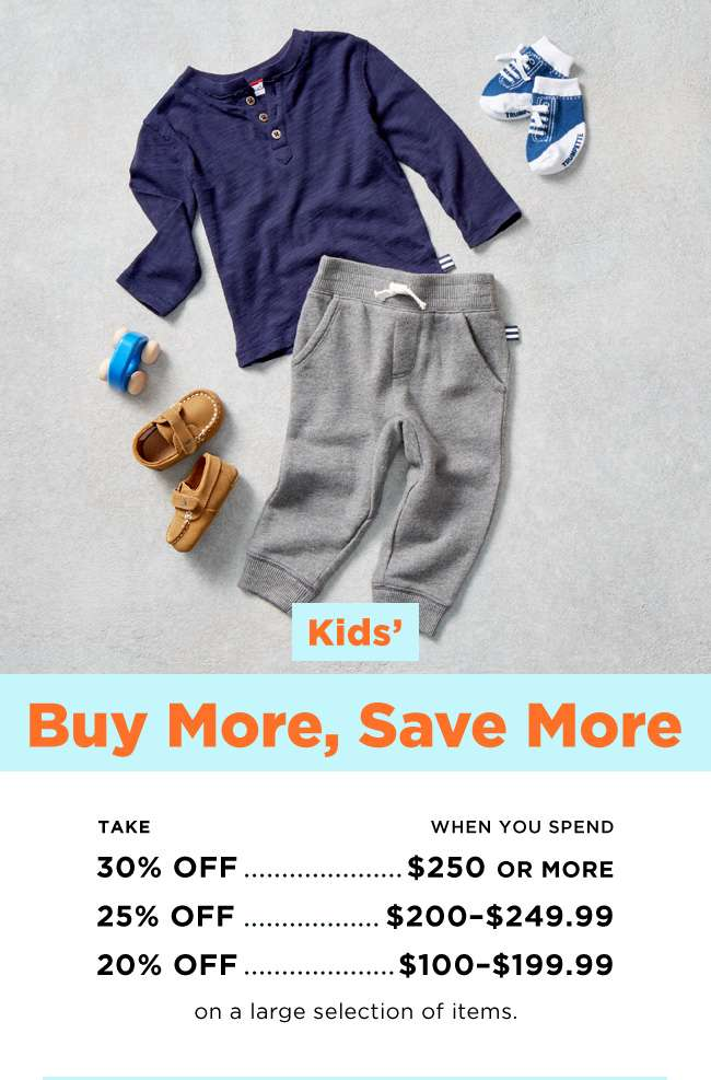 KIDS' BUY MORE, SAVE MORE