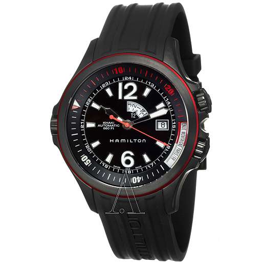Men's  Hamilton Khaki Navy GMT Watch