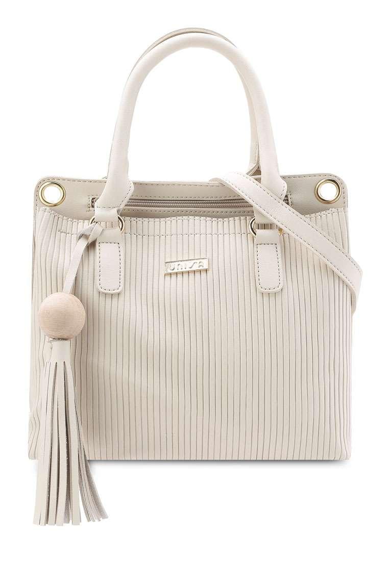 Debossed Pattern Top Handle Bag