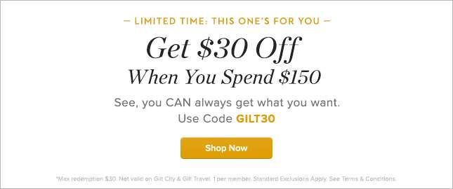 Get $30 Off When You Spend $150