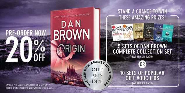 dan brown books origin