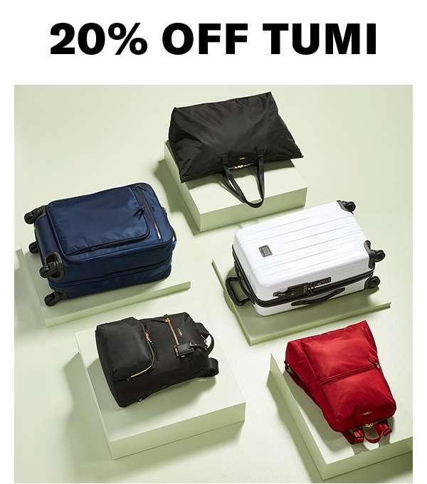 20% off Tumi Shop now.