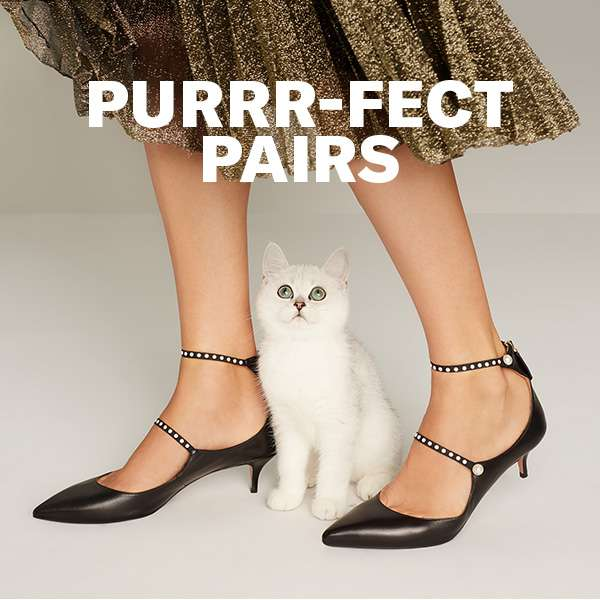 Purrr-fect Pairs - See why the sophisticated kitten heel is so right meow. Shop now.