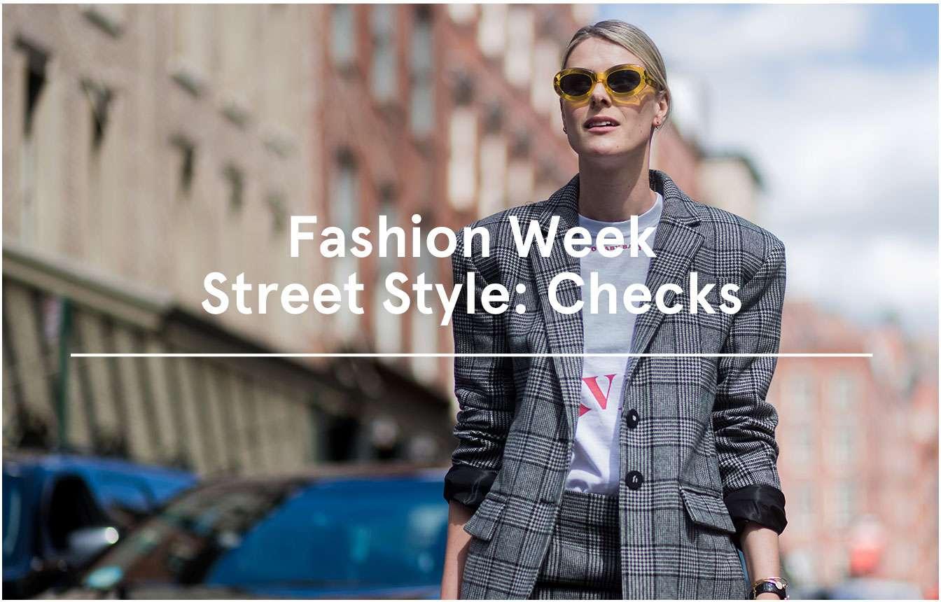 Fashion Week Street Style: Checks