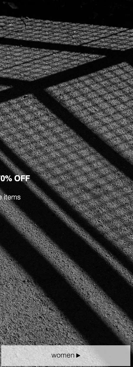 Sale items marked down