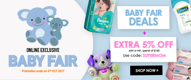 Baby Fair - Online Exclusive - Extra 5% off!