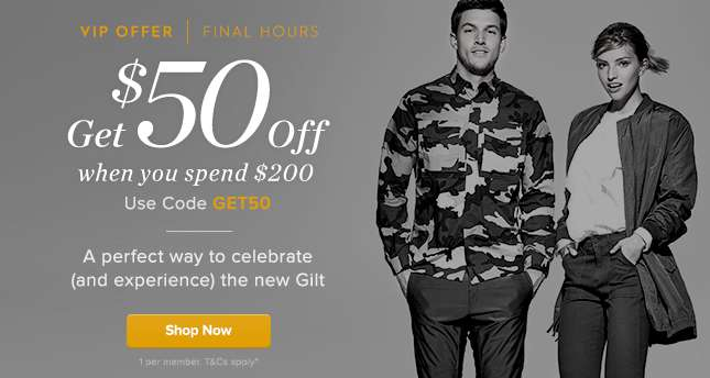 Get $50 Off when you spend $200