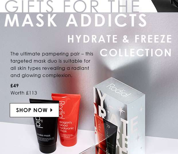 Discover the hydrate & freeze festive gift collection to reveal radiant and glowing skin.