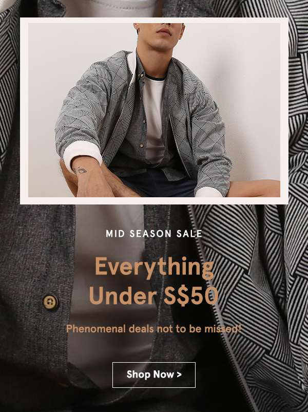 Everything under 50 dollars. Shop Now