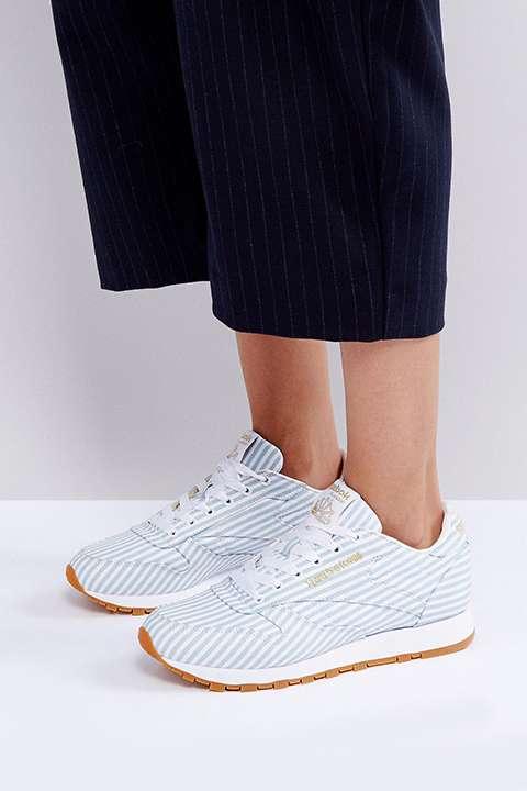 ASOS WHITE x Reebok Classic in Shirting Stripe