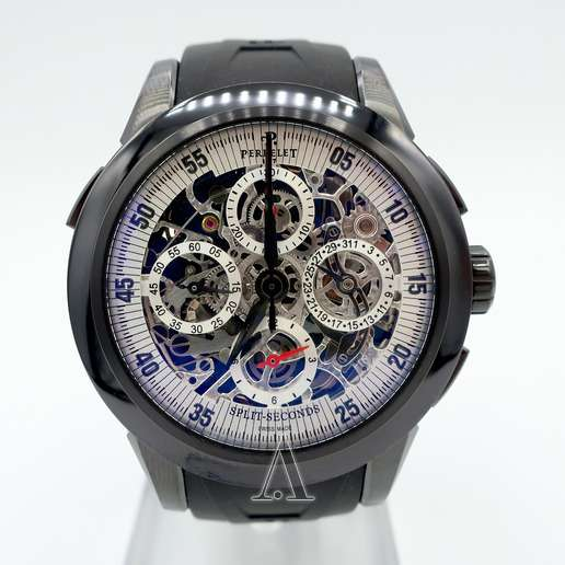 Men's  Perrelet Chronograph Split Second Skeleton Watch