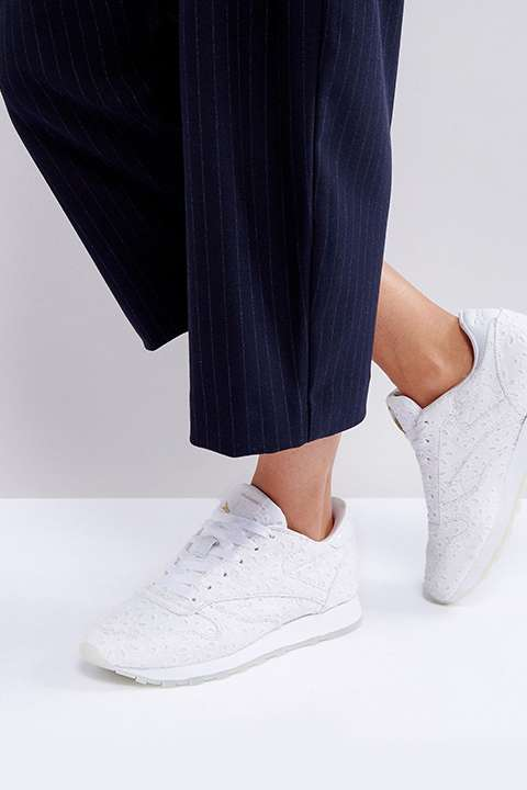 ASOS WHITE x Reebok Classic in Broderie Anglaise