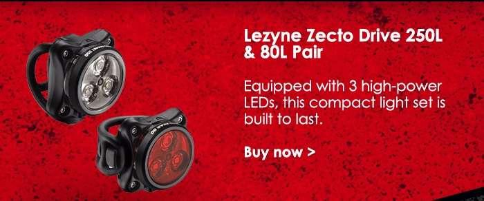 Lezyne Zecto Drive 250L & 80L Pair