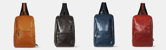 Harvest Label Leather Avenue Sling Pack