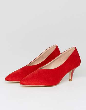 RAID Ayla Red Kitten Heeled Shoes
