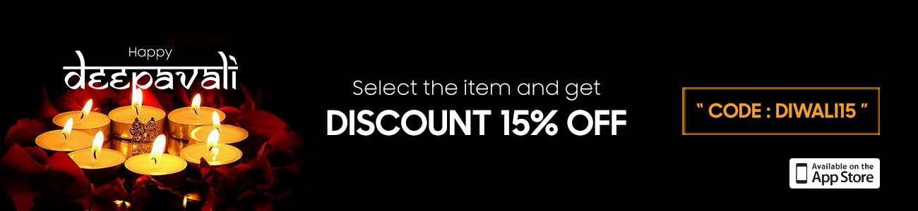 Happy Deepavali Discount 15% Off
