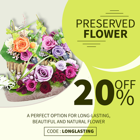 Preserved Flowers Discount 20% Off