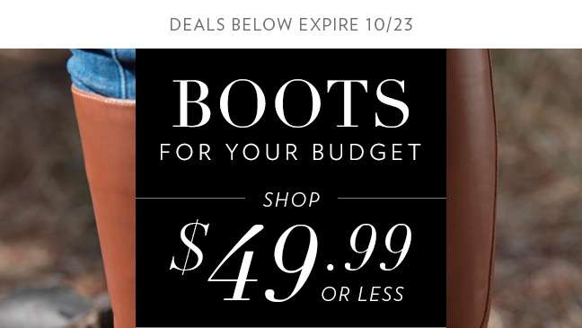 Boots $49.99 or Less
