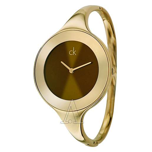Women's  Calvin Klein feminine oversized dial contrasted with Watch