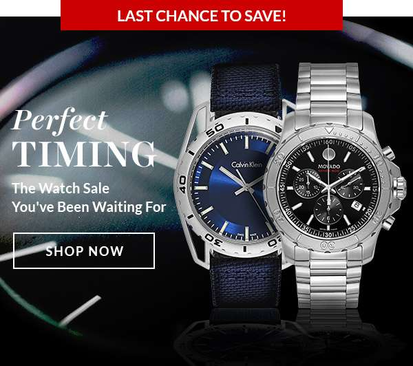 PERFECT TIMING — The Watch Sale You've Been Waiting For