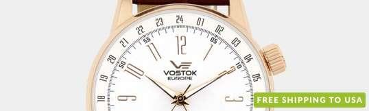 Vostok-Europe GAZ-Limo Dual Time Automatic Watch