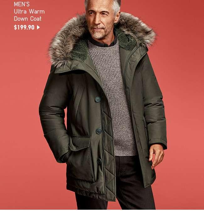 NEW! Men's Ultra Warm Down Coat at $199.90