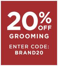 20% off Grooming, enter code: BRAND20