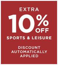 Extra 10% off Sport and Leisure