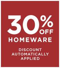 30% off Homeware