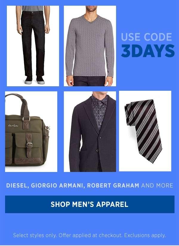 Shop Men's Apparel