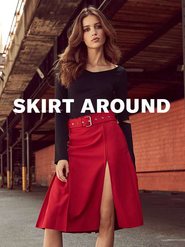 Skirt Around - Fall skirts are here (just add booties and a sweater).